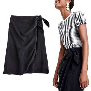 J. Crew 100% Silk Wrap Skirt in Japanese Cupro 0